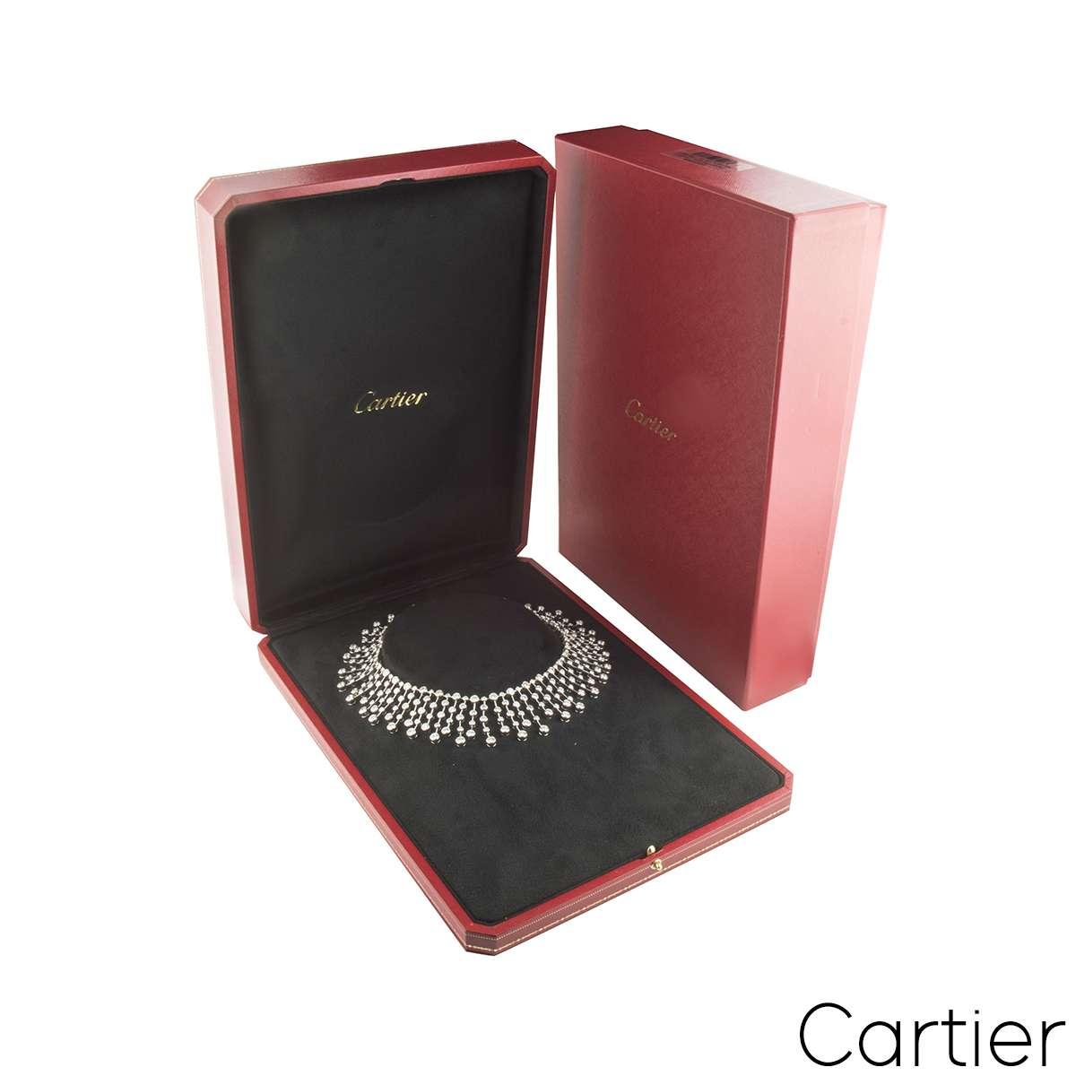 Cartier Diamond Platinum Necklace 60.00ct D/VVS